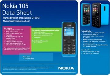 Nokia 105 Black (NOVO, SIM-FREE, Baterija traje do 35 dana)