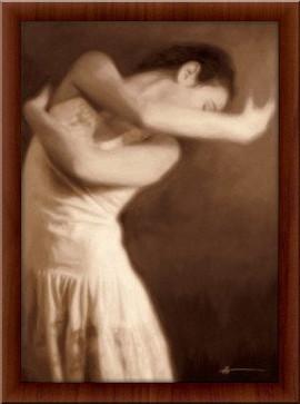 Slika Balerina Polina, uramljena slika