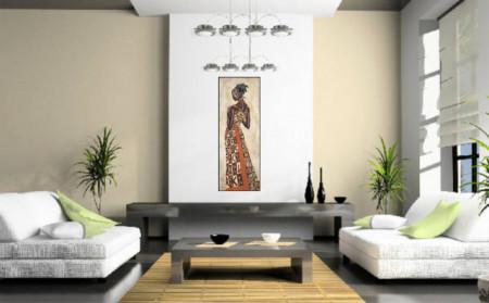 Chipo, uramljena slika dimenzije 35x100cm