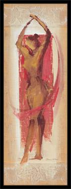 Izražajna crvena figura, uramljena slika