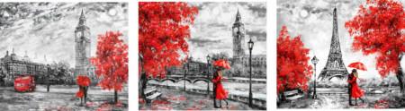 Slike Red Cities, tri uramljene slike 30x40cm svaka immagini