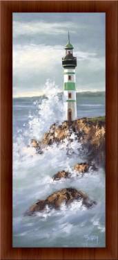 Slika Zeleni svetionik, uramljena slika