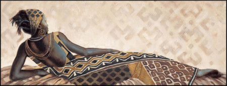 Slika Abena, uramljena slika 35x100cm