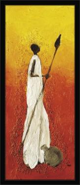 Slika Africki ratnik, uramljena slika