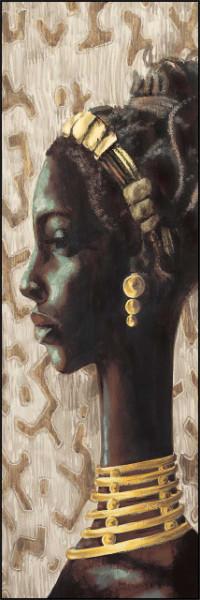 Slika Aisha, uramljena slika dimenzije 35x100cm