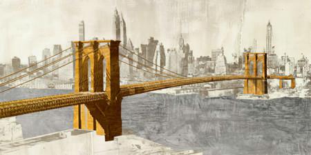 Slika Brooklyn bridge New York,, uramljena slika 50x100cm