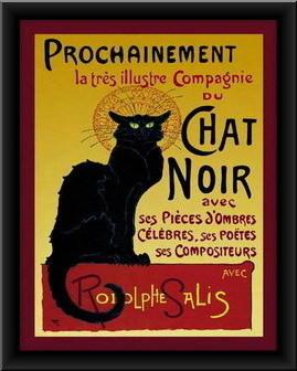 Slika Chat Noir, uramlljena slika