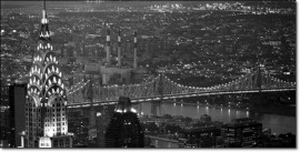Chrysler Building and Queensboro Bridge, framed picture images