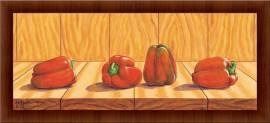 Crvene paprike, uramljena slika