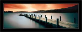 Slika Jetty drveno pristanište, uramljena slika
