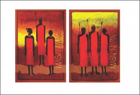 Slika Masai Mara, uramljena slika 50x70 cm svaka