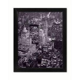 Slika Pogled na New York noću, uramljena slika