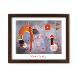 Rond et Pointu, Wassily Kandinsky, uramljena slika