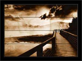 Stari drveni most, uramljena slika