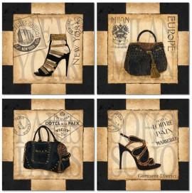 Slika Ženske torbe i cipele, slike na medijapanu