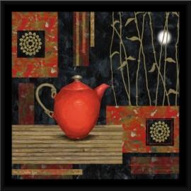 Slika Crveni čajnik, uramljena slika