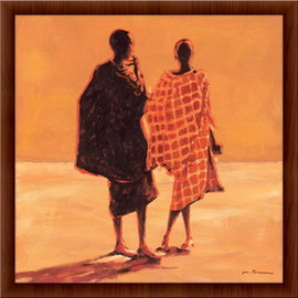 Slika Ljudi iz Savaiona,  uramljena slika