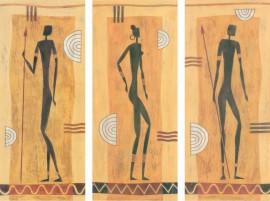 Viva african style, uramljena slika 3 kom
