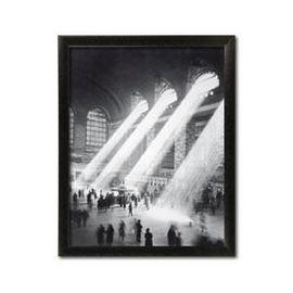 Železnička stanica, uramljena slika