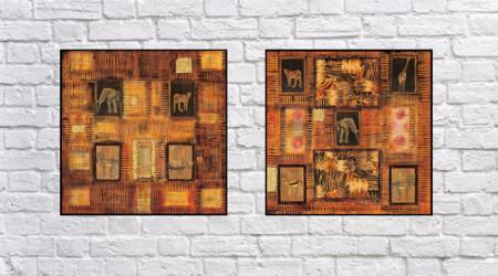 Slika Zuki Africa, dve uramljen slike 50x50cm svaka