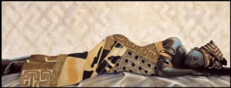 Slika Abebi, uramljena slika, dimenzije 35x100cm