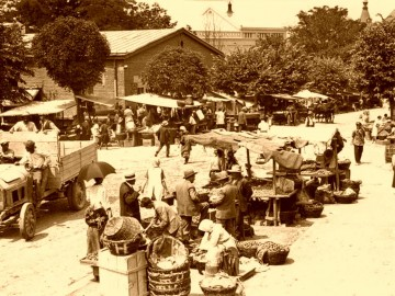 Slika Beogradski Cvetni trg, uramljena slika