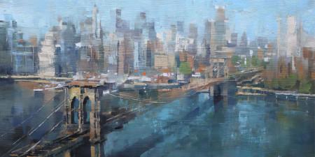 Slika Brooklyn bridge New York city , uramljena slika 50x100cm