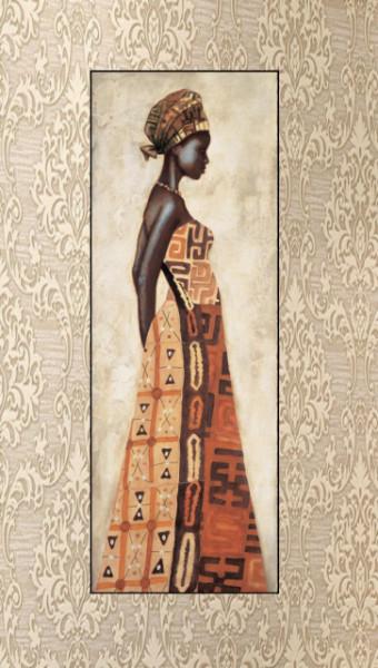 Chinue, uramljena slika dimenzije 35x100 cm