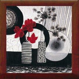 Slika Crveni cvetovi, uramljena slika