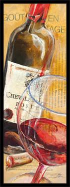 Grand Cru vino, uramljena slika