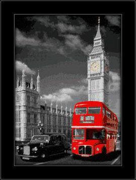 Slika London 3D uramljena slika