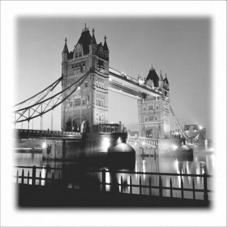 London b/w, uramljena slika 60x60cm