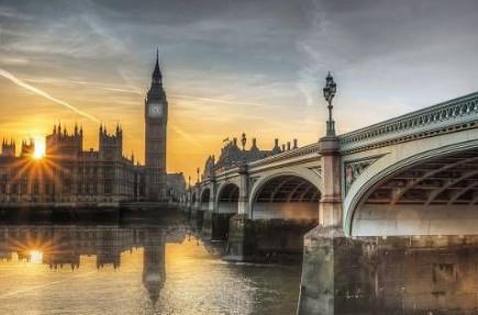 London Big Ben, uramljena slika 70x100cm