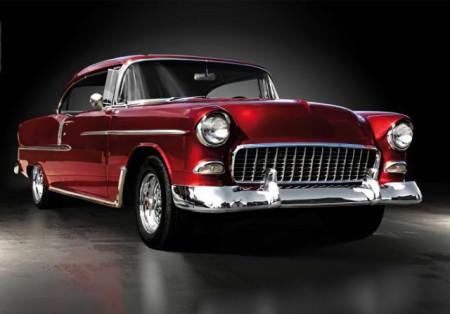 Old red car, uramljena slika 70x100cm
