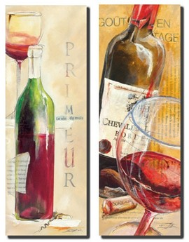 Slika Primeur i Grand Cru vina, slike na medijapanu