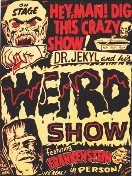 Stari poster Frankenstein, uramljena slika 30x40cm