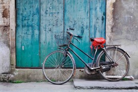 Slika A Chinese bicycle, uramljena slika 45x55cm