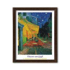 Slika A sidewalk cafe at night, Vincent van Gogh, uramljena slika