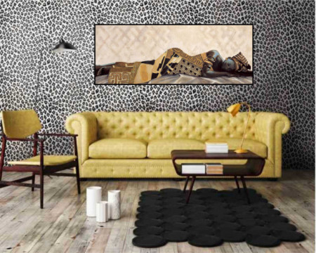 Abebi, uramljena slika, dimenzije 35x100cm