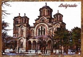 Slika Crkva Svetog Marka Retro-tabla