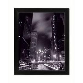 Glavna ulica noću, uramljena slika