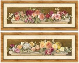 Slika Miris ruža, komplet uramljenih slika