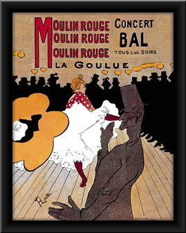 Slika Moulin rouge, uramlljena slika