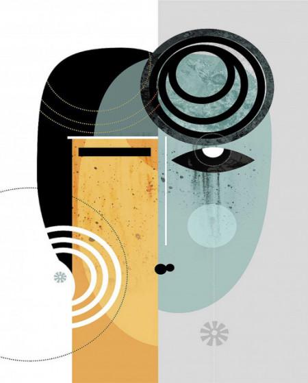 Mungi, uramljena slika 70x100cm