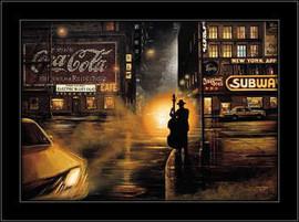 Slika Noćni svirač u Njujorku 2, uramljena slika