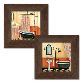 Slika Retro Kupatilo, dve uramljene slike
