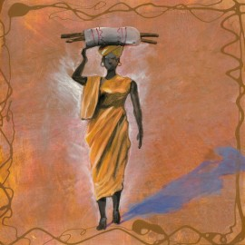 Abdalla, uramljena slika 50x50 cm