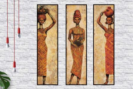 Akkani, tri uramljene slike 35x100cm svaka