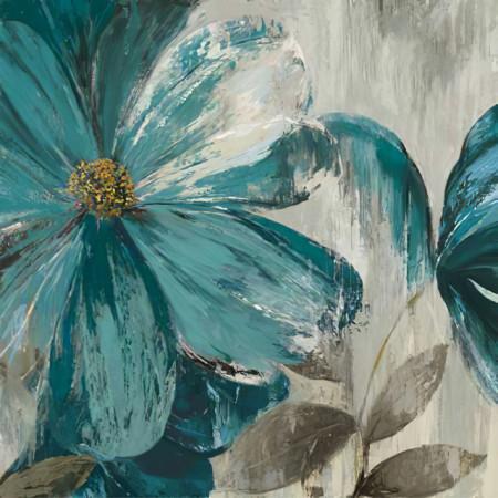 Slika Blue flower, uramljena slika dimenzije 70x70cm