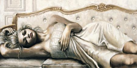 Slika Diana on sofa, uramljena slika 50x100cm